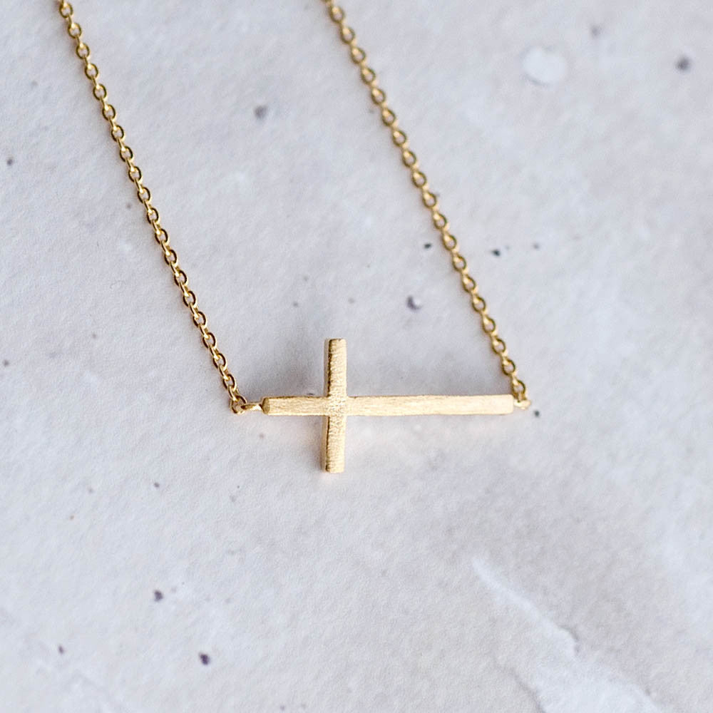 Sideway Cross Necklace