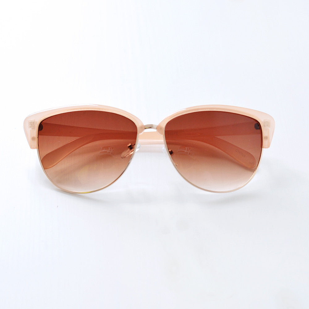 Retro Semi Rimless Sunglasses