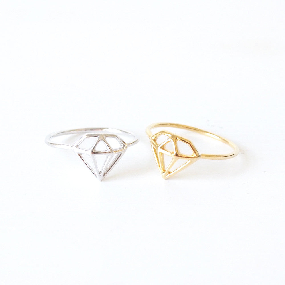 Diamond Shaped Cutout Ring