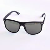 Simple Shield Black Sunglasses