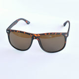 Simple Shield Tortoise Sunglasses