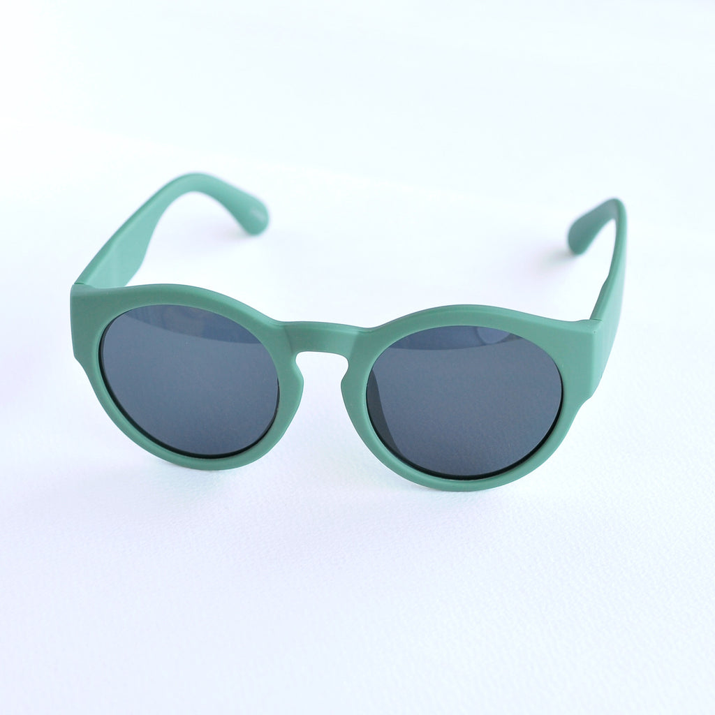 Round Retro Green Sunglasses