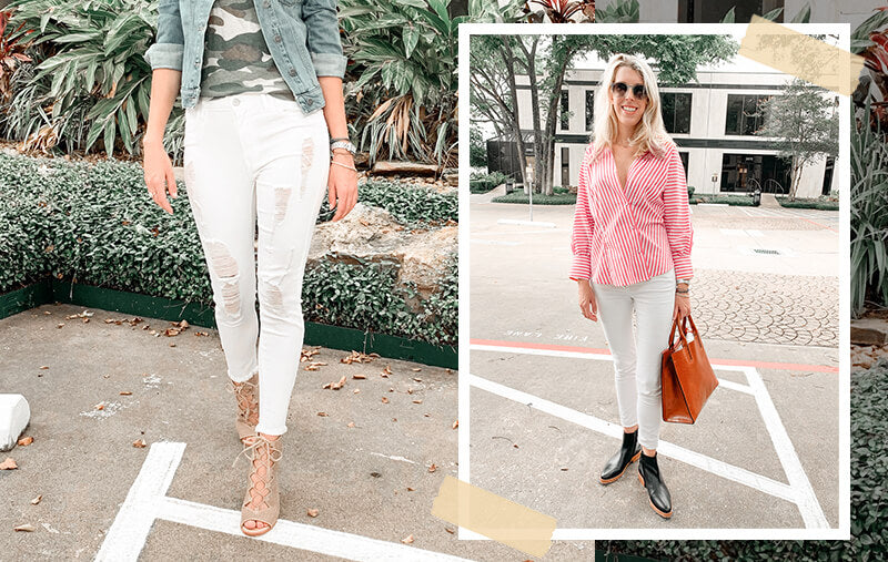 White Jeans Outfit Ideas - 5 Ways to Wear White Jeans