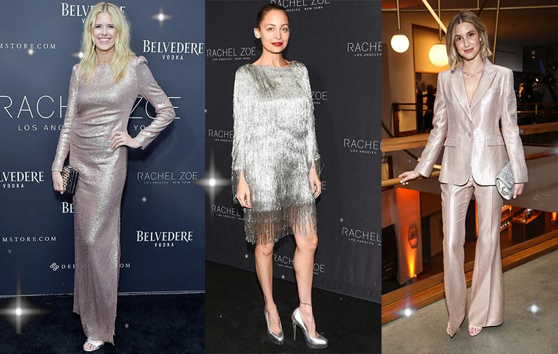Metallic Must-Haves by Rachel Zoe | Nicole Richie Metallic Fringe Dress | Whitney Port