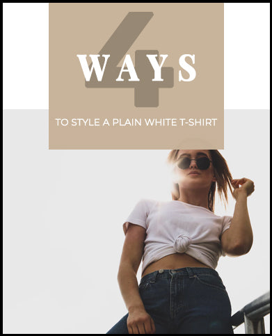 How to Style a Basic White Tee | Plain White Tee's on sale at Muse Boutique Outlet