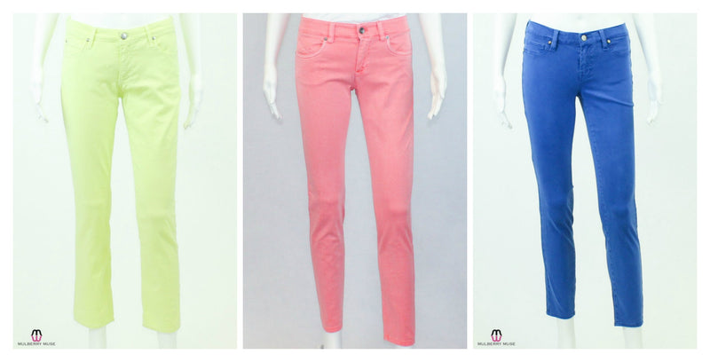 Swap out your jeans for colorful pants this summer!