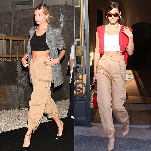 Trend to Try: Cargo Pants | Shop the Look: Cargo Pants | Bella Hadid | Hailey Bieber