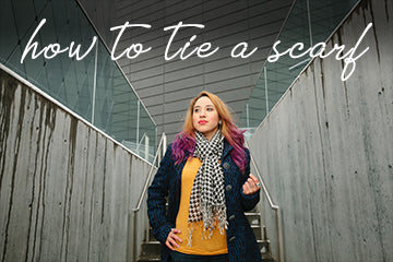 How To: Tie a Scarf | Muse Boutique Outlet | tie the perfect scarf in a few steps