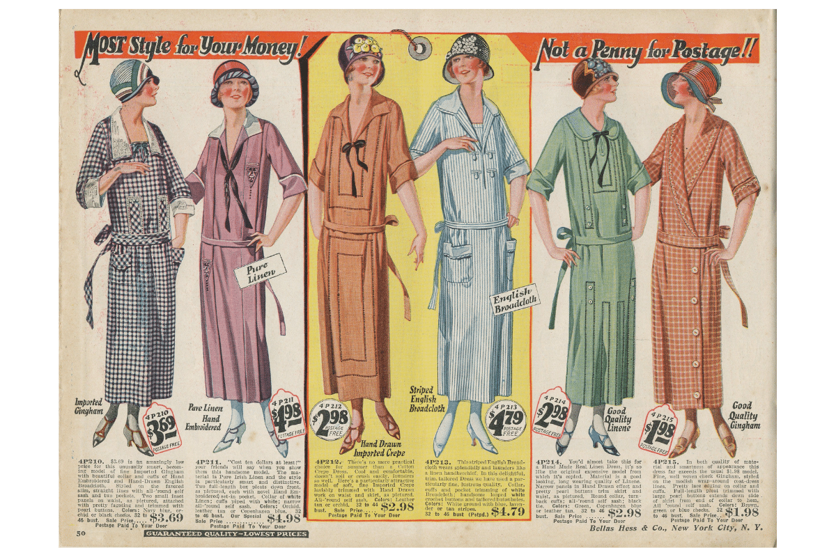 1920's - 1940's Gingham Fabric - The History Behind The Fashion Old-Fashioned Trend