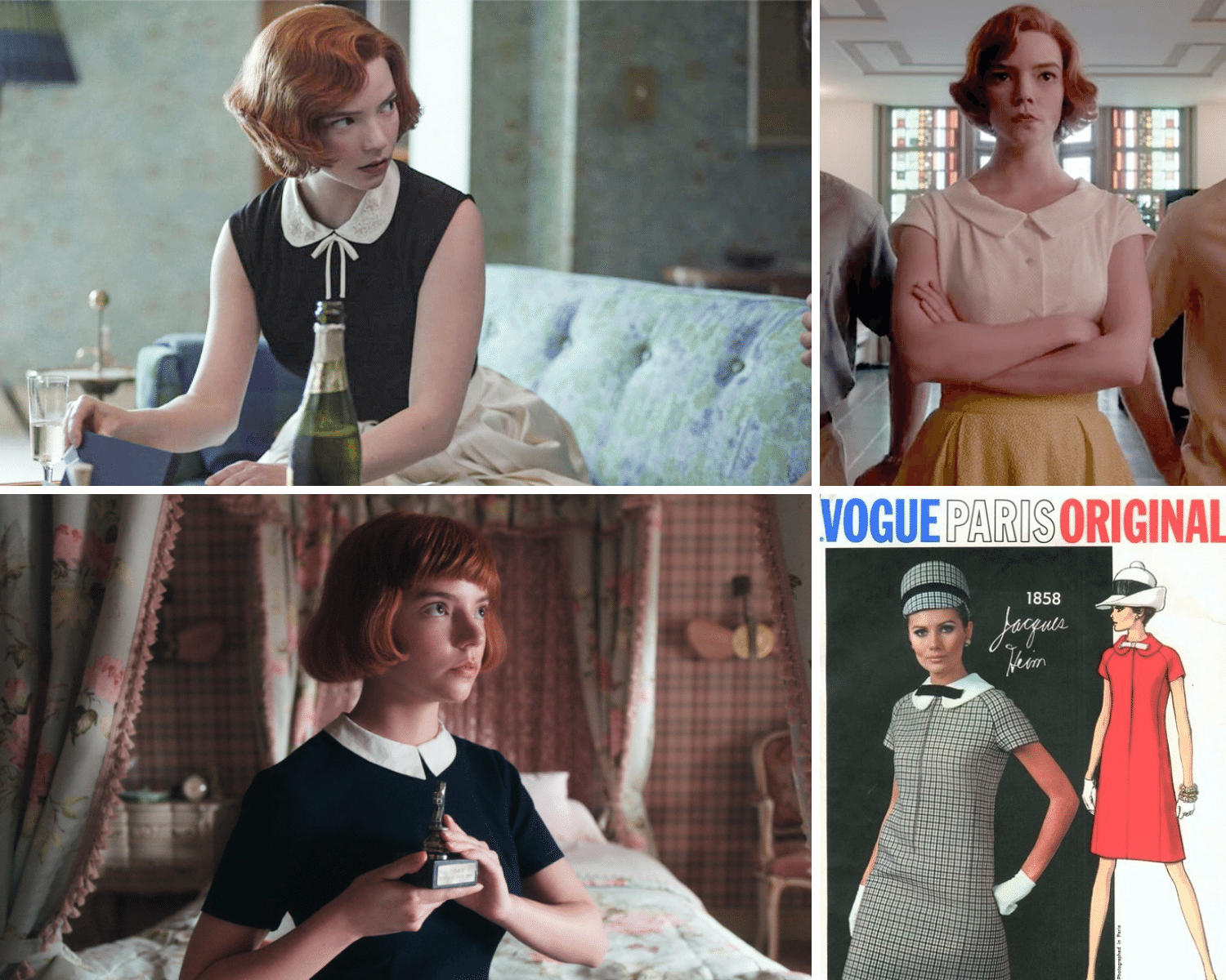 60's Peter Pan Collars | Here's where to buy queens gambit clothes/outfits | Beth Harmon's Most Iconic Outfits | Queen's Gambit Style Guide: How to Wear Beth Harmon's '60s Fashion Outfits in 2021 | Muse Boutique Outlet