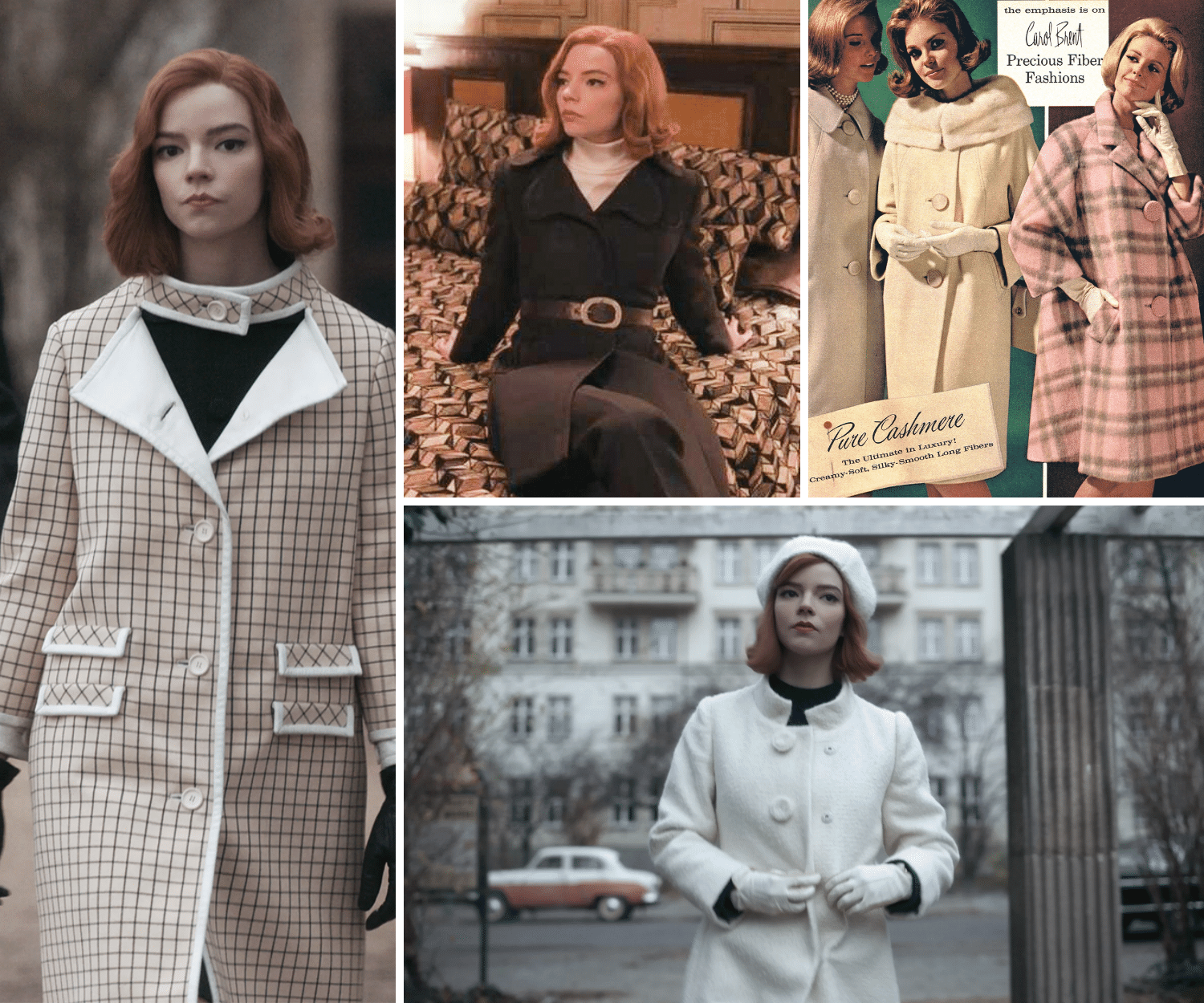 60's Coats and Jackets | Here's where to buy queens gambit clothes/outfits | Beth Harmon's Most Iconic Outfits | Queen's Gambit Style Guide: How to Wear Beth Harmon's '60s Fashion Outfits in 2021 | Muse Boutique Outlet