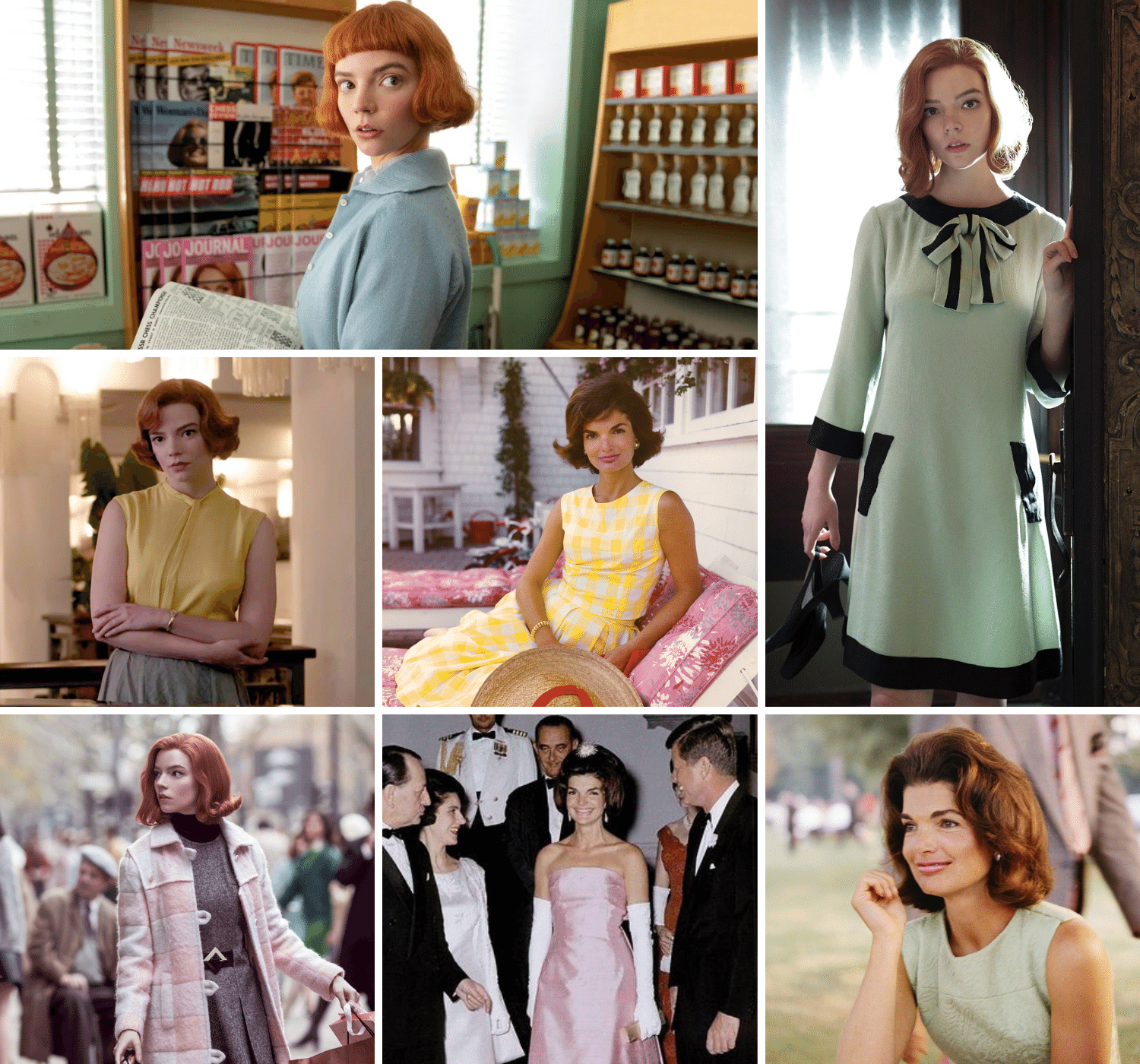 Pastels | Jackie Kennedy | Here's where to buy queens gambit clothes/outfits | Beth Harmon's Most Iconic Outfits | Queen's Gambit Style Guide: How to Wear Beth Harmon's '60s Fashion Outfits in 2021 | Muse Boutique Outlet