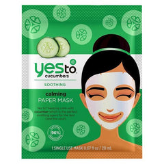 Yes To Cucumbers Calming Paper Face Mask - 1ct
