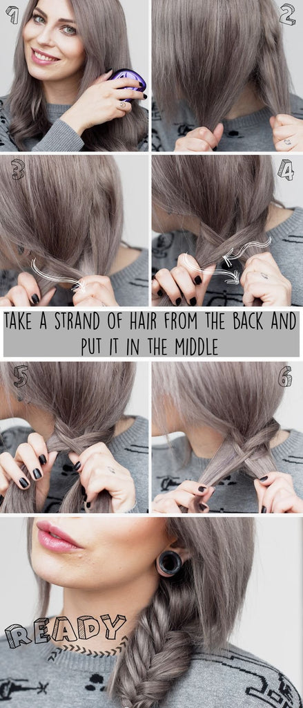 how to do a fishtail braid |  messy fishtail braid | rd ideas fishtail french braid | fishtail braid tutorial |  fishtail ponytail | fishtail hair
