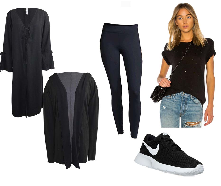 The Best Celebrity Airport Looks | Ahsley Graham Outfit Monochrome All Black