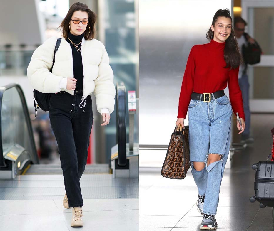 Bella Hadid Queen of Comfort at the airport | The Best Celebrity Airport Looks