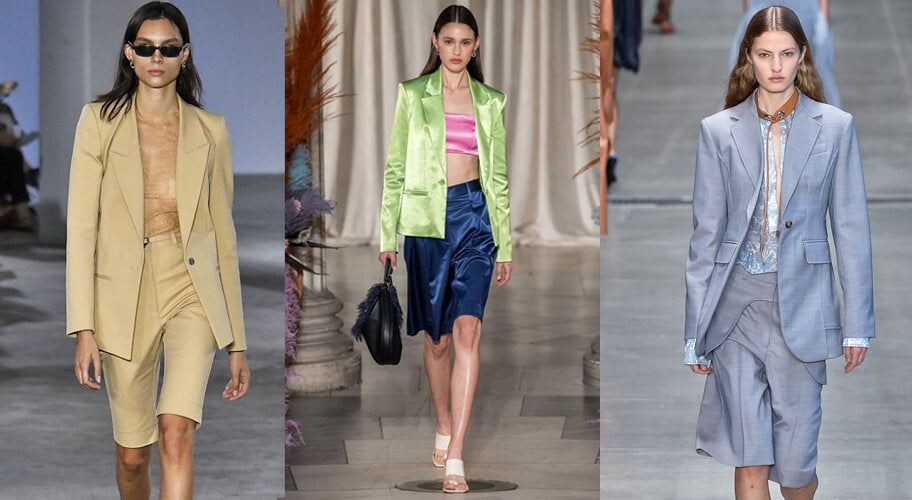 Bermuda Shorts on the runway. The spring summer 2020 trend forecast is here. Find spring 2020 fashion trends up to 90% off retail. Read about the Spring 2020 trends blog. How to wear the latest spring 2020 fashion trends. Shop Muse Outlet. International Shipping, 15% off your first order.