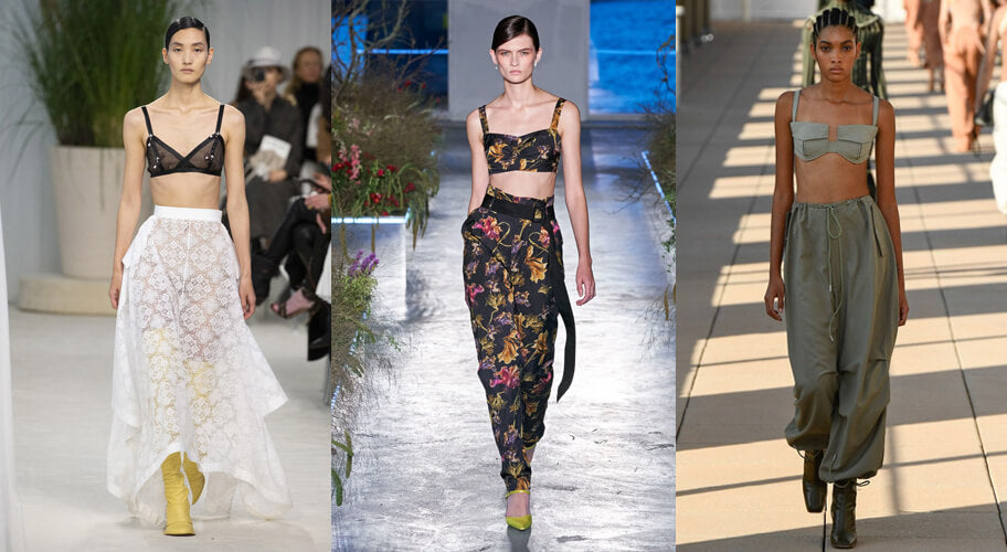 Bra Tops on the spring fashion 2020 runway. The spring summer 2020 trend forecast is here. Find spring 2020 fashion trends up to 90% off retail. Read about the Spring 2020 trends blog. How to wear the latest spring 2020 fashion trends. Shop Muse Outlet. International Shipping, 15% off your first order.