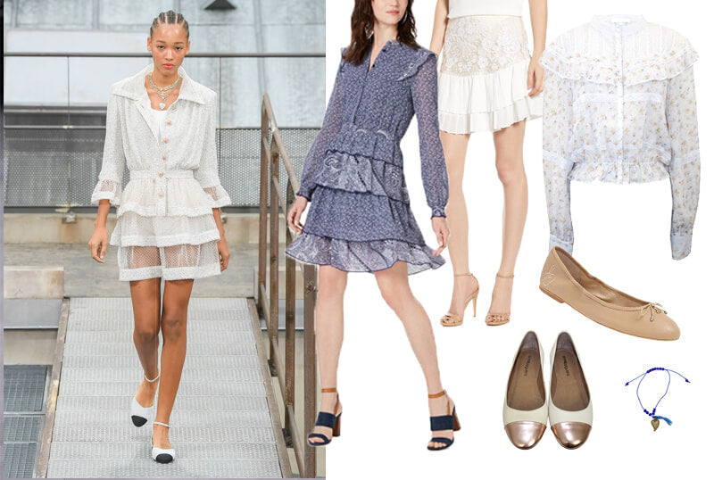Chanel tiered dress spring fashion 2020 runway. The spring summer 2020 trend forecast is here. Find spring 2020 fashion trends up to 90% off retail. Read about the Spring 2020 trends blog. How to wear the latest spring 2020 fashion trends. Shop Muse Outlet. International Shipping, 15% off your first order.