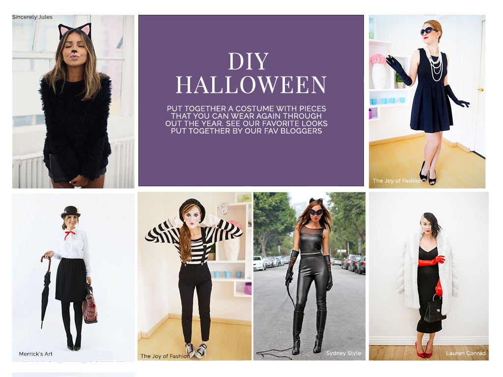 DIY Halloween Chic Costumes Easy Bloggers