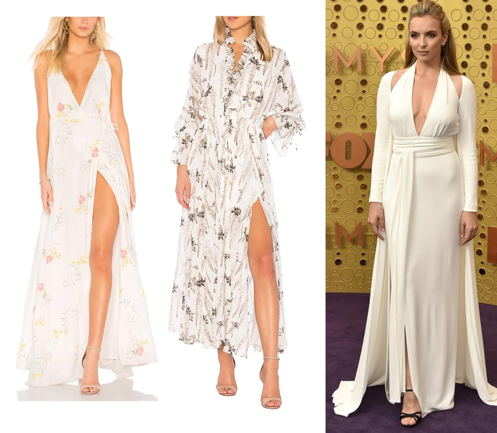 Shop The Red Carpet Look: Killing Eve's Jodie Comer | Leg Slits, Capes and V-Necklines