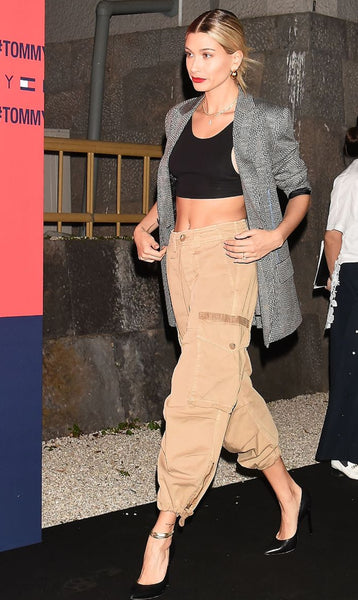 hailey baldwin hailey bieber cargo pants trend to try steal her style