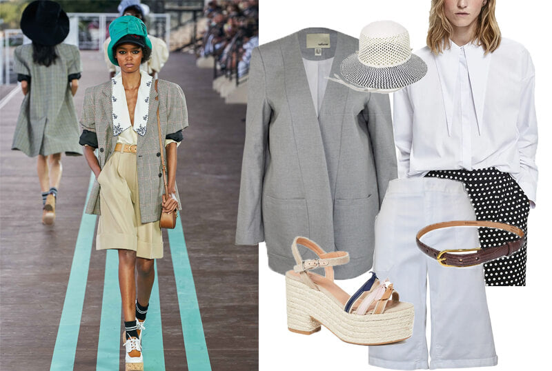 Miu Miu Bermuda shorts on the spring fashion 2020 runway. The spring summer 2020 trend forecast is here. Find spring 2020 fashion trends up to 90% off retail. Read about the Spring 2020 trends blog. How to wear the latest spring 2020 fashion trends. Shop Muse Outlet. International Shipping, 15% off your first order.