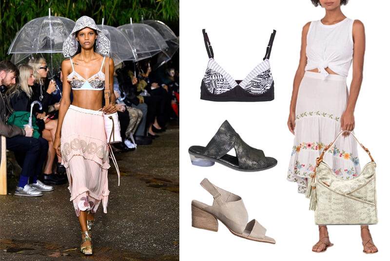 Lanvin bra top on the spring fashion 2020 runway. The spring summer 2020 trend forecast is here. Find spring 2020 fashion trends up to 90% off retail. Read about the Spring 2020 trends blog. How to wear the latest spring 2020 fashion trends. Shop Muse Outlet. International Shipping, 15% off your first order.