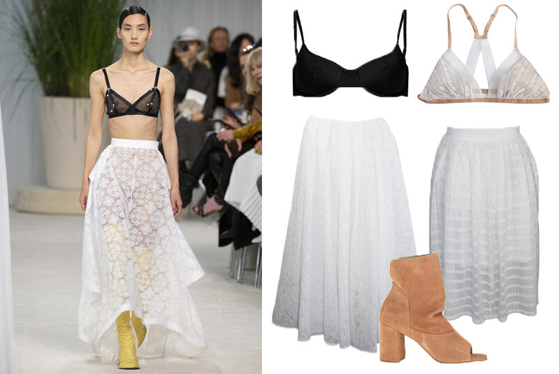 Loewe spring 2020 fashion bra top on the runway. The spring summer 2020 trend forecast is here. Find spring 2020 fashion trends up to 90% off retail. Read about the Spring 2020 trends blog. How to wear the latest spring 2020 fashion trends. Shop Muse Outlet. International Shipping, 15% off your first order.