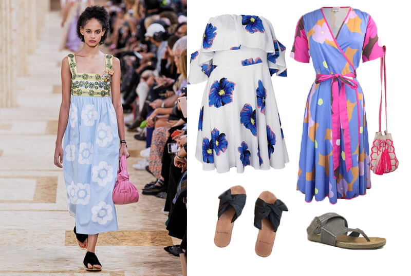 Miu Miu floral dress spring fashion 2020 runway. The spring summer 2020 trend forecast is here. Find spring 2020 fashion trends up to 90% off retail. Read about the Spring 2020 trends blog. How to wear the latest spring 2020 fashion trends. Shop Muse Outlet. International Shipping, 15% off your first order.