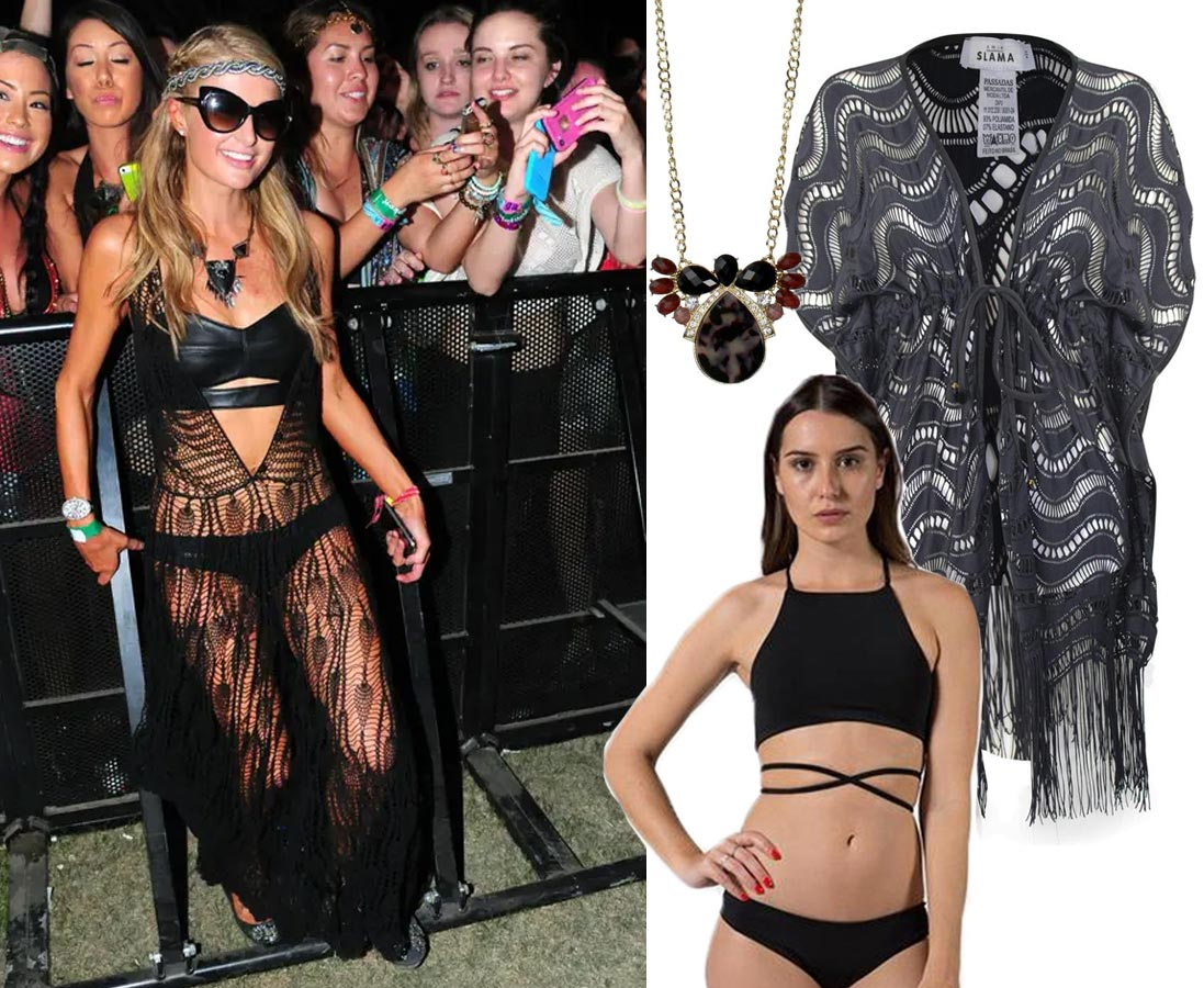 What to Wear to a Music Festival - Celebrity Inspired Looks | Paris Hilton, 2014