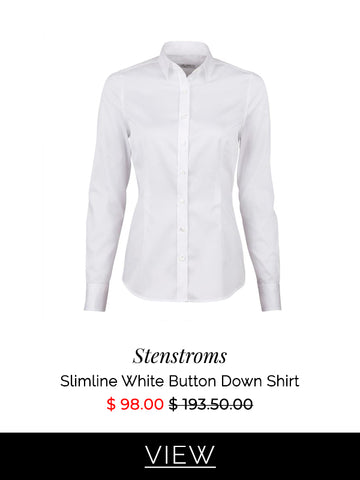 Stenstroms Slimline White Button Down Shirt | How to dress for an interview
