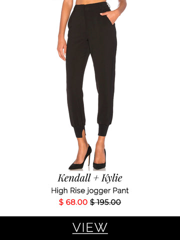 kendall + kylie high rise jogger pant on sale at Muse Boutique Outlet