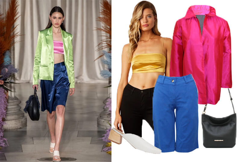 Staud Silky Blue Bermuda Shorts on the spring 2020 fashion runway.The spring summer 2020 trend forecast is here. Find spring 2020 fashion trends up to 90% off retail. Read about the Spring 2020 trends blog. How to wear the latest spring 2020 fashion trends. Shop Muse Outlet. International Shipping, 15% off your first order.