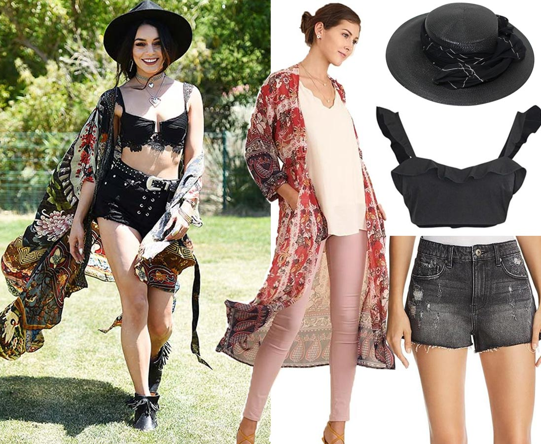 What to Wear to a Music Festival - Celebrity Inspired Looks | Vanessa Hudgens, 2017