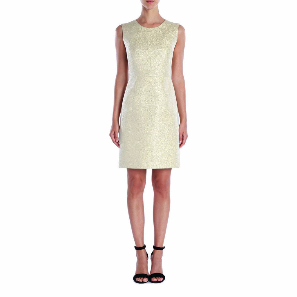 Shoshanna Gold Metallic Jacquard Sheath Dress Size 0 Muse Boutique Outlet | Shop Designer Clearance Dresses on Sale | Up to 90% Off Designer Fashion