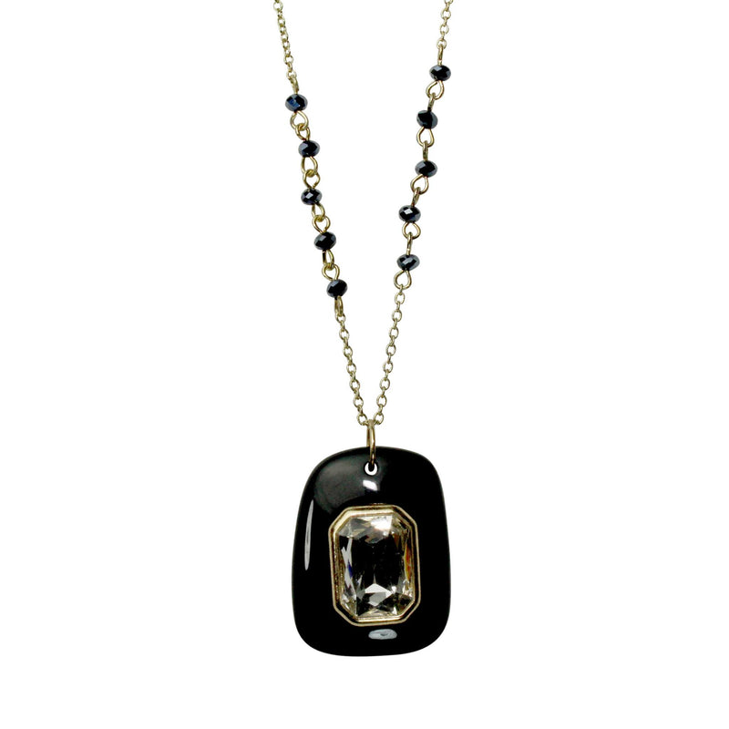 Private Label Black Pendant and Stone Necklace Size OSFA Muse Boutique Outlet | Shop Designer Clearance Jewelry on Sale | Up to 90% Off Designer Fashion