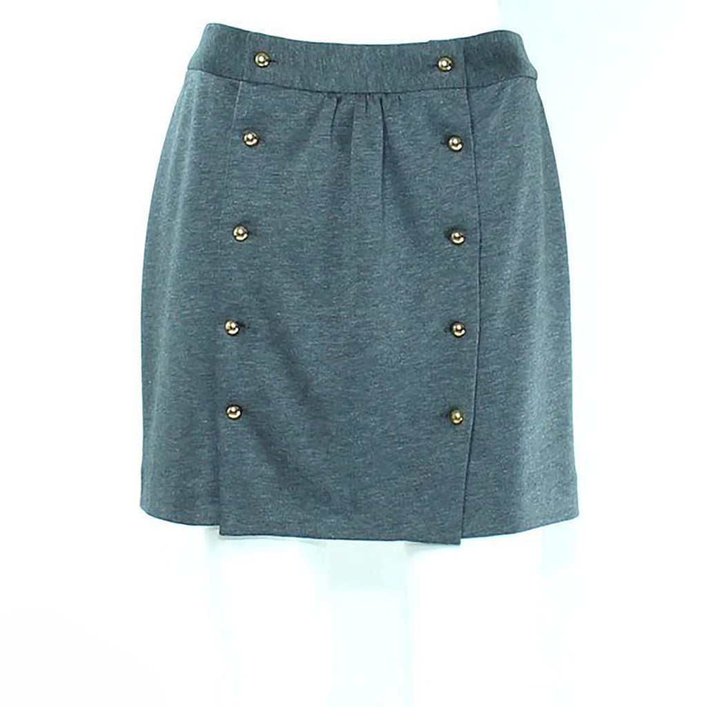 Leona by Lauren Leonard Gray Knit Gathered Skirt Size 0 Muse Boutique Outlet | Shop Designer Clearance Skirts on Sale | Up to 90% Off Designer Fashion