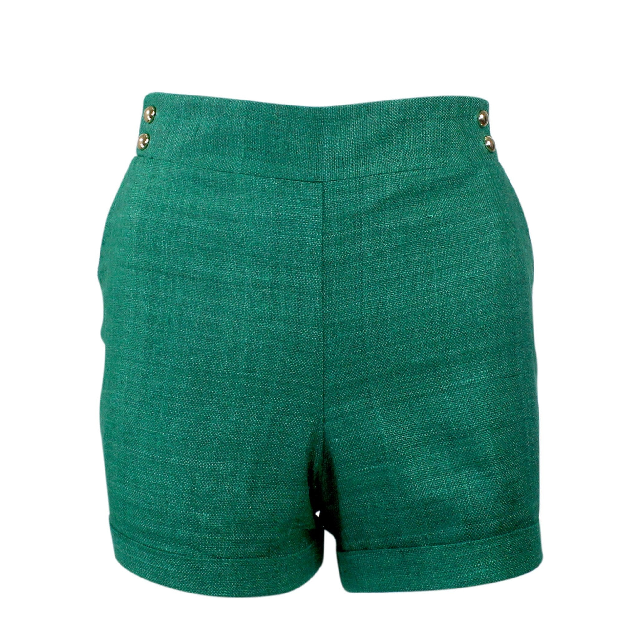 Leona by Lauren Leonard Silk Short with Pockets 4 Jade Muse Boutique Outlet