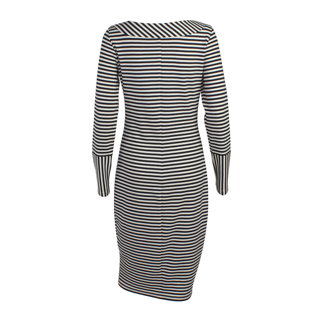 Amy Matto  Striped Long Sleeve Dress Size  Muse Boutique Outlet | Shop Designer Clearance Dresses on Sale | Up to 90% Off Designer Fashion