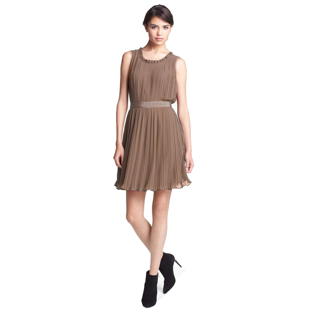 McGinn Raisin Maya Pleated Dress Size 2 Muse Boutique Outlet | Shop Designer Clearance Dresses on Sale | Up to 90% Off Designer Fashion