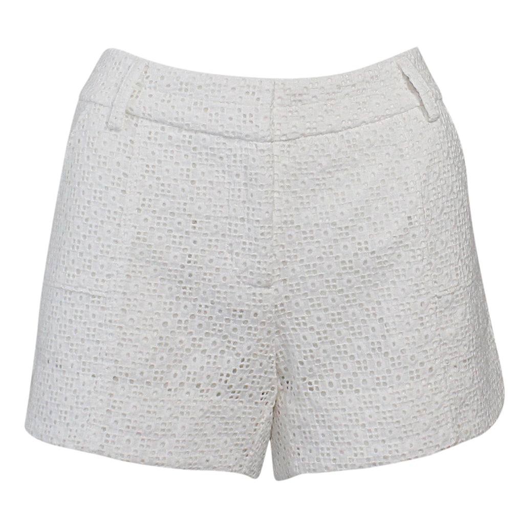 Annie Griffin White Lindy Mod Print Short Size 2 Muse Boutique Outlet | Shop Designer Clearance Shorts on Sale | Up to 90% Off Designer Fashion