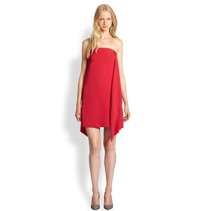 By Malene Birger Red Leena Strapless Ruffle Dress Size 36/6 Muse Boutique Outlet | Shop Designer Clearance Dresses on Sale | Up to 90% Off Designer Fashion