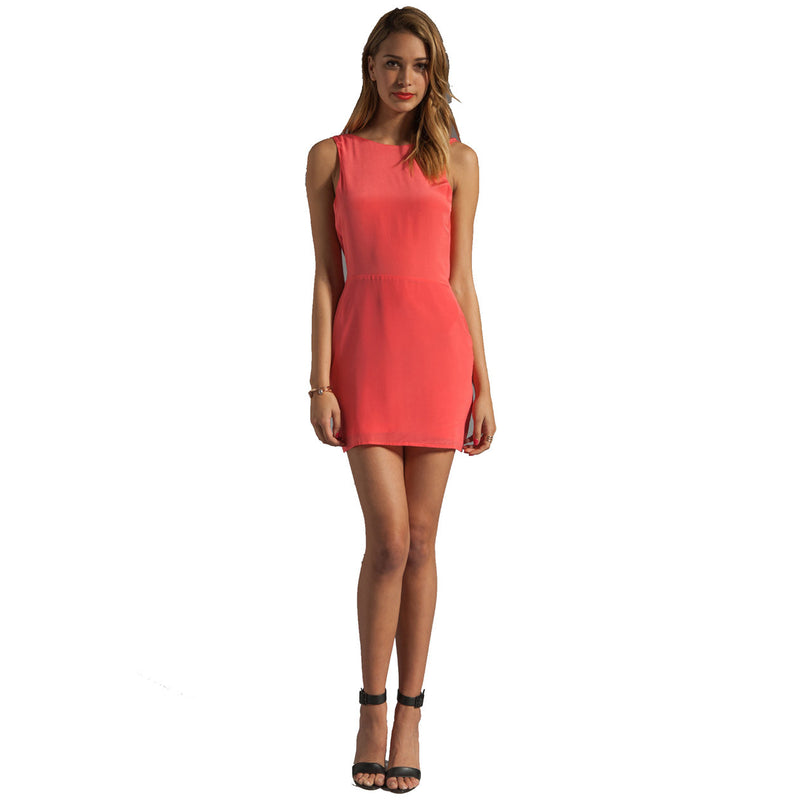 Bec & Bridge Coral Silk Reversible Drape Dress Size 6 Muse Boutique Outlet | Shop Designer Clearance Dresses on Sale | Up to 90% Off Designer Fashion