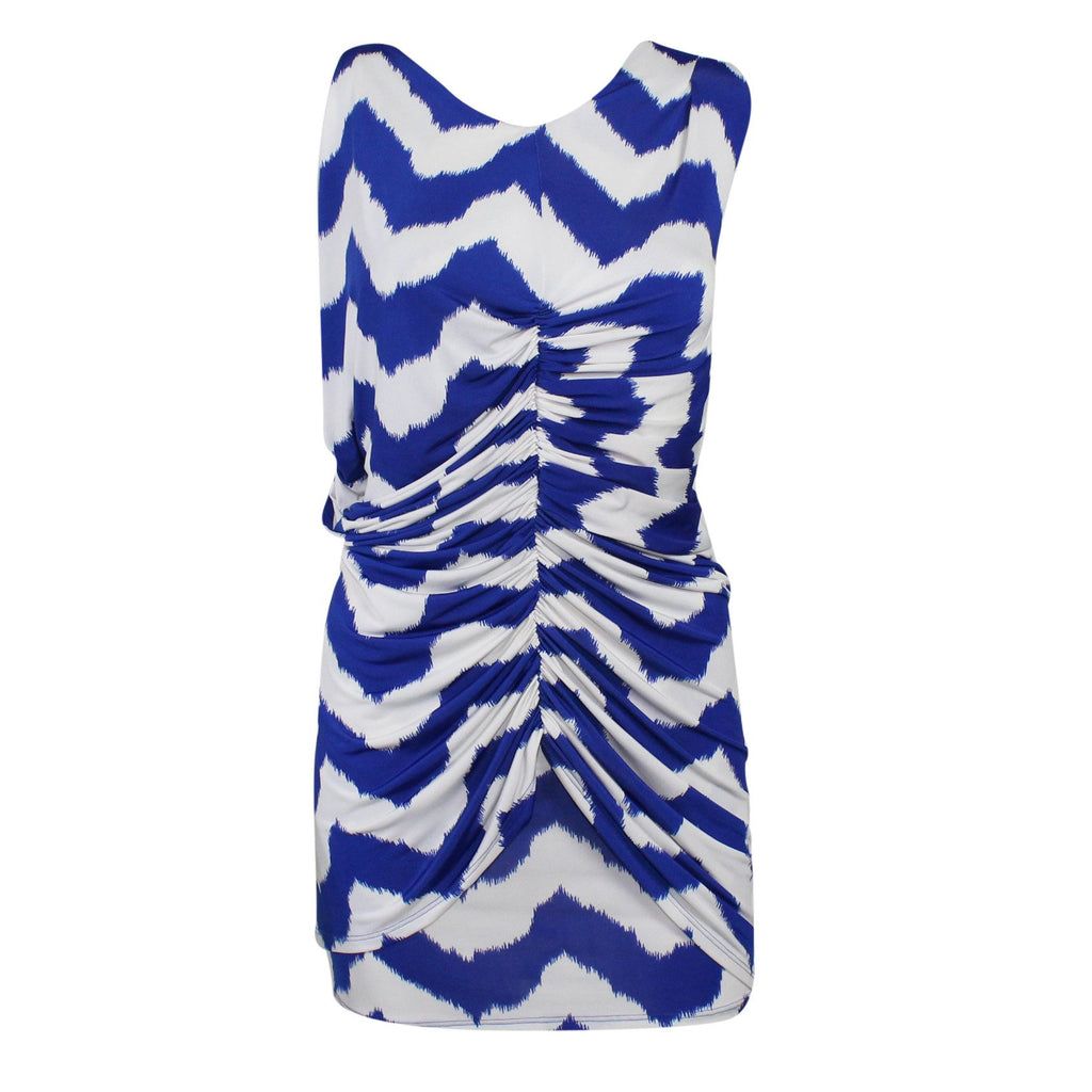 T-Bags Los Angeles Blue/White Zig Zag Print Dress Size Small Muse Boutique Outlet | Shop Designer Clearance Dresses on Sale | Up to 90% Off Designer Fashion
