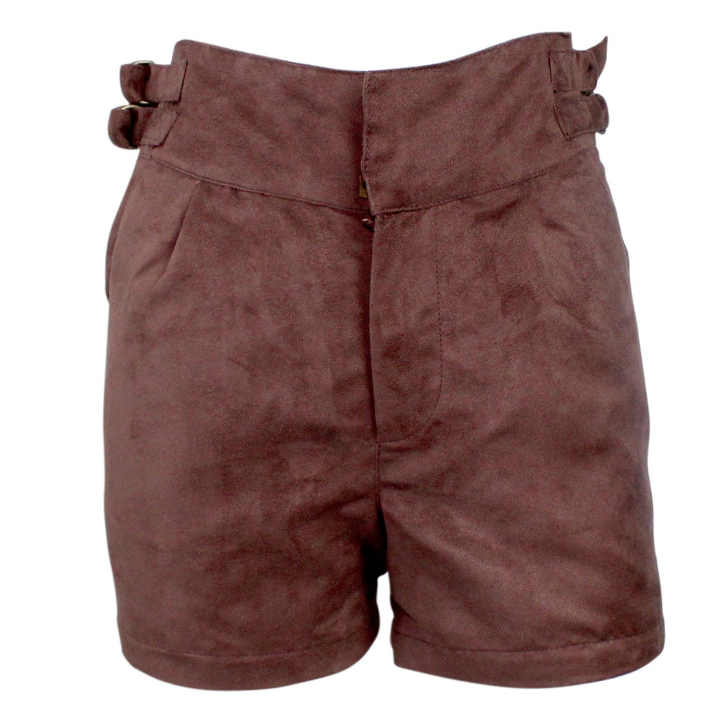 Coffeeshop High Waist Suede Short 4 Deep Brown Muse Boutique Outlet | Up to 90% Off Designer Fashion