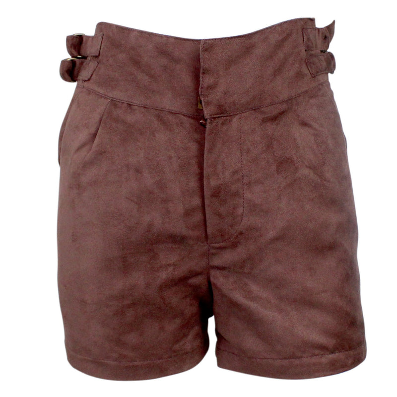 Coffeeshop Deep Brown High Waist Suede Short Size 4 Muse Boutique Outlet | Shop Designer Clearance Shorts on Sale | Up to 90% Off Designer Fashion