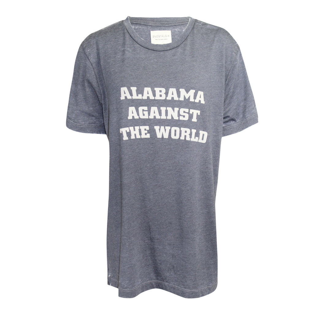 2Nostalgik Iron Gate Alabama Against The World Tee Size Large Muse Boutique Outlet | Shop Designer Clearance Tops on Sale | Up to 90% Off Designer Fashion