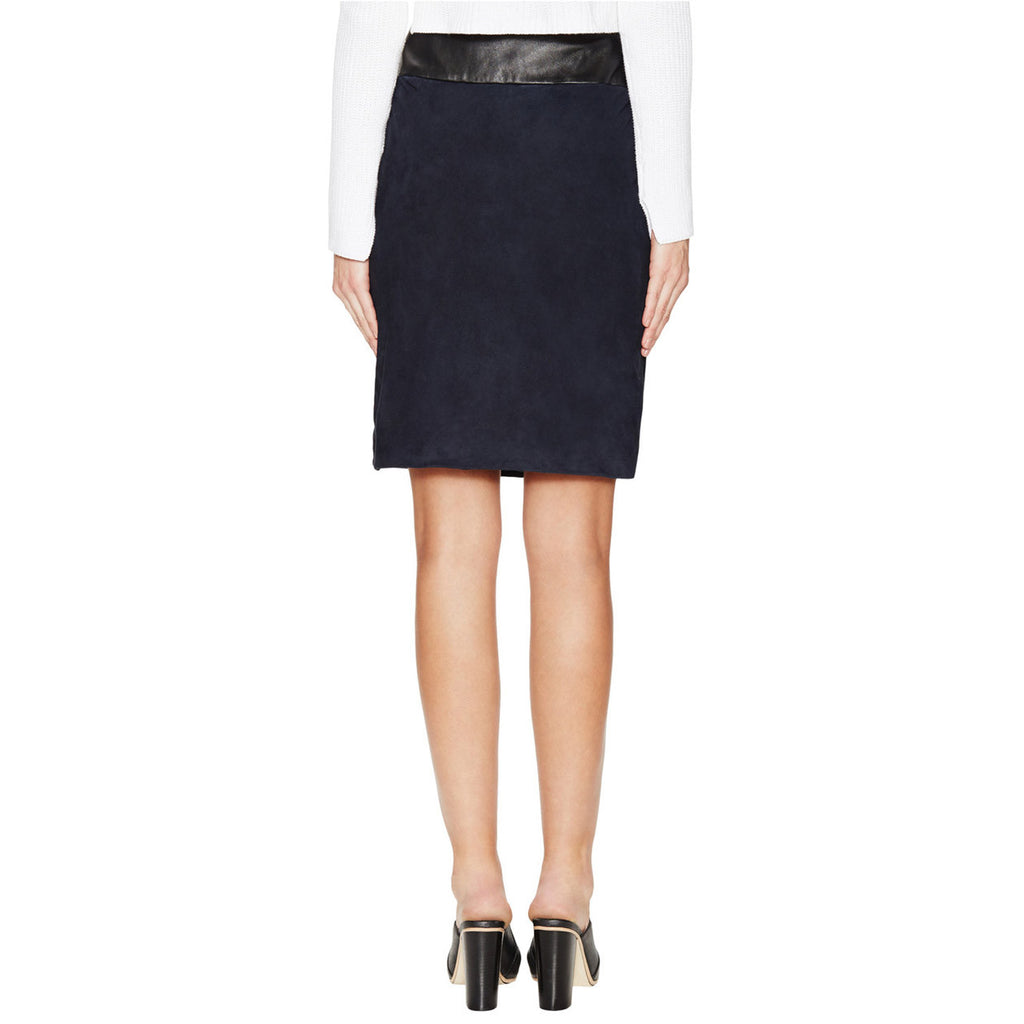 Ohne Titel  Navy Suede Leather Skirt Size  Muse Boutique Outlet | Shop Designer Clearance Skirts on Sale | Up to 90% Off Designer Fashion