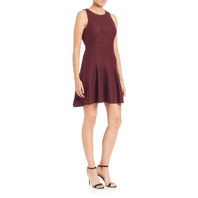 4.Collective Burgundy Hyland Flared Wool Dress Size 6 Muse Boutique Outlet | Shop Designer Clearance Dresses on Sale | Up to 90% Off Designer Fashion